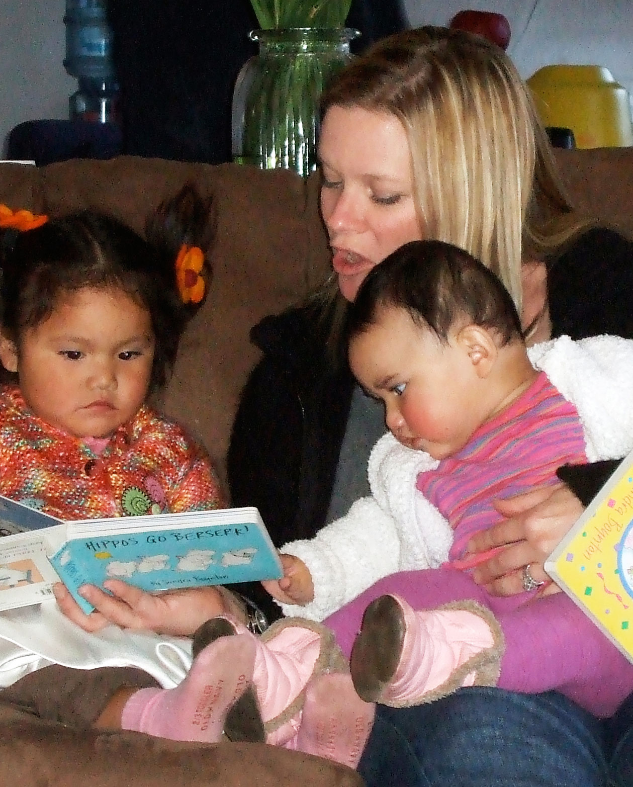 Jennifer Hemsley with Pearl and Hazel in 2007.