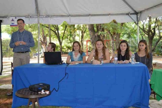 Cone and CHS students at Haitian Studies Conference, Haiti, 2014. (Credit: Matt Cone)