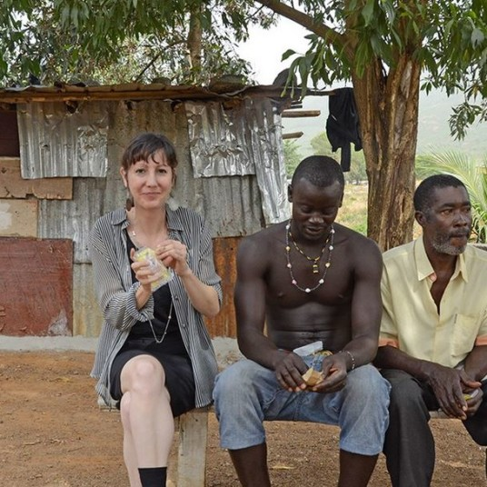 Reporter Amy Maxmen in Sierra Leone, March 2015. (Courtesy of Amy Maxmen)