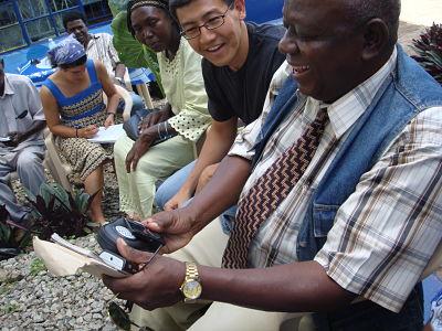 Toyama working for Microsoft in Uganda. (Credit: Toyama)