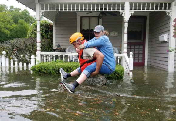 Texas National Guard Soldiers conduct rescue operations in flooded areas around Houston, Texas, Aug. 27, 2017. Photo Credit: US Army